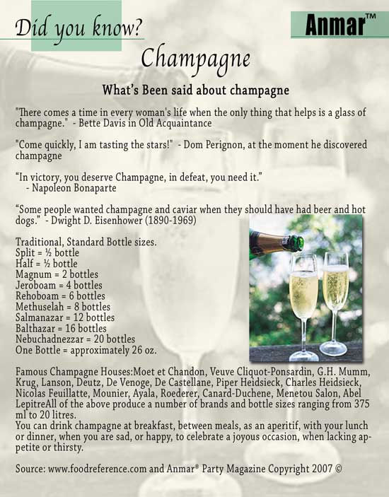 Anmar Tips - Champagne
