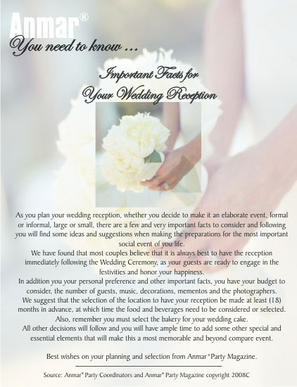 Anmar Tips - You need to Know Weddings