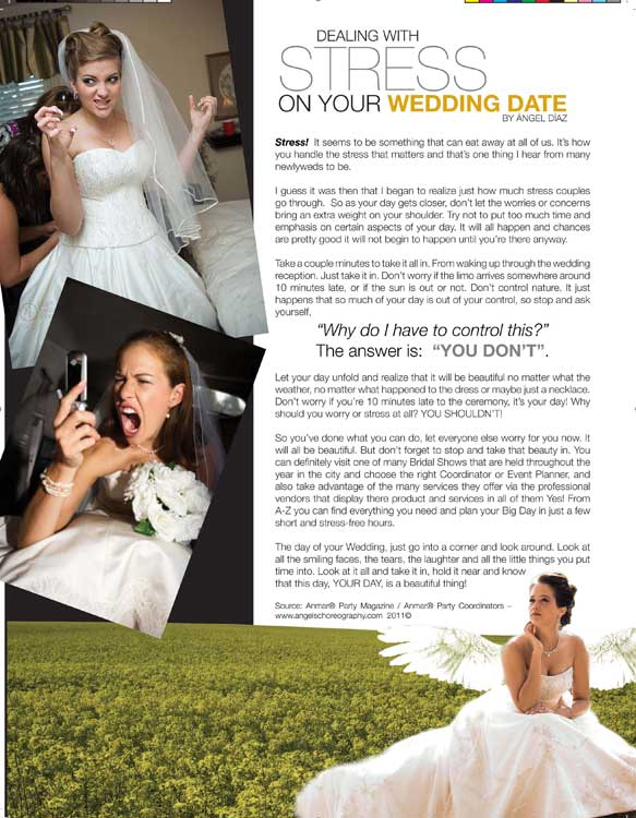 Dealing with Stress on your Wedding day
